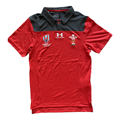 £19.99 • Buy Wales Rugby Polo Shirt Under Armour UA Men's RWC Polo Shirt - New