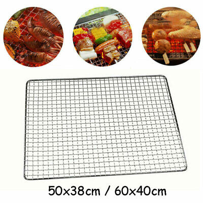 £8.99 • Buy BBQ Stainless Steel Grill Grate Grid Wire Mesh Rack Cook Replacement Net 50x38cm