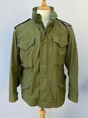 $279 • Buy Exceptional 1971 Alpha Industries M65 OD Green Field Jacket Size Small Short
