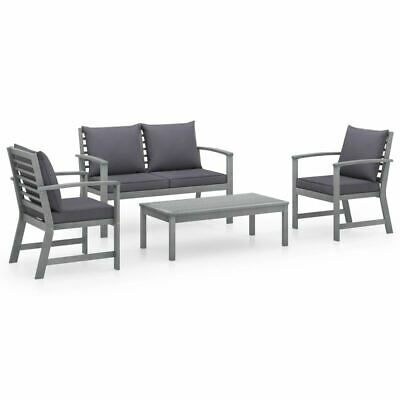 AU492.95 • Buy Wooden Garden Sofa Set 4 Pcs Rustic Style Outdoor Lounge Furniture With Cushions