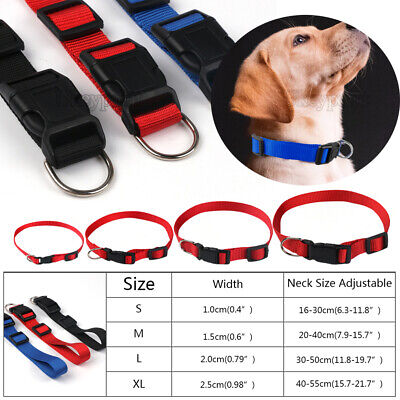 £2.59 • Buy Dog Collar Adjustable Puppy Nylon Strong 4 Sizes Collars Durable Soft 3Colors UK