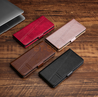 AU12.85 • Buy For OPPO F7 Youth PULeatherMagneticFlipWalletCardCaseCover