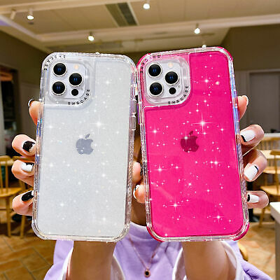 AU10.59 • Buy For IPhone 12 11 Pro Max XS XR 7 8Plus Bling Shockproof Hybrid Bumper Case Cover