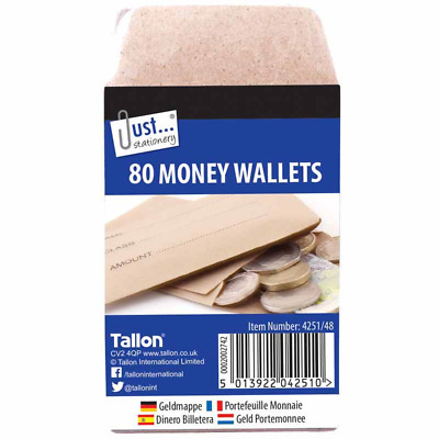 £5.29 • Buy 80 Money Wallets Envelopes Printed Wage Petty Cash Dinner Money Wallet 70x105mm