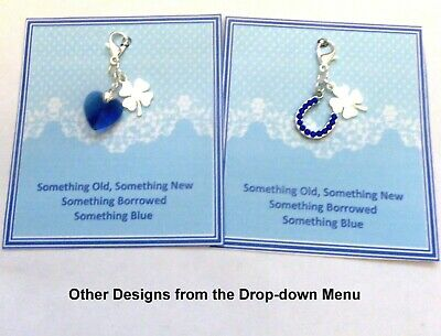 £3.99 • Buy Something Blue Lucky Bridal Charm For Garter Or Bouquet Traditional Gift V7