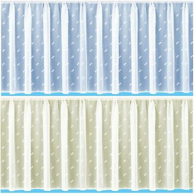 £1.99 • Buy CLEARANCE  Kew  Embroidered Voile Net Curtain - Free Postage - Sold By The Metre
