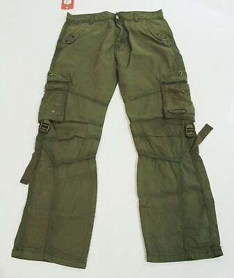 $26.99 • Buy Fashio Gears Exclusive Men's Cargo Style Trousers DG4 Olive Size 34/30 NWT