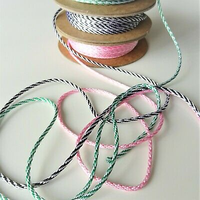 £1.50 • Buy Bakers Twine 3mm Wide In Rose Black & Green, Craft Supplies, Birthday Gift Wrap