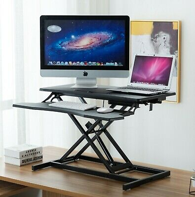 AU119 • Buy HC Desk Riser Office Shelf Standup Sit Stand Height Standing With Keyboard Tray