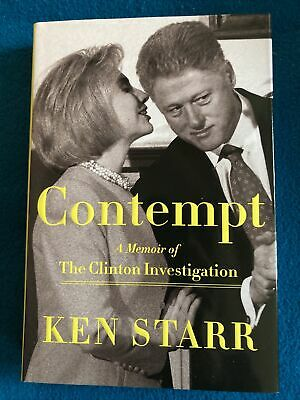 £18.18 • Buy Contempt - Clinton Investigation - SIGNED And Personally Inscribed By Ken Starr