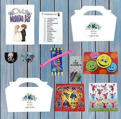 £1.95 • Buy Personalised Childrens Kids Wedding Activity Pack Party Bag Favour Box 6