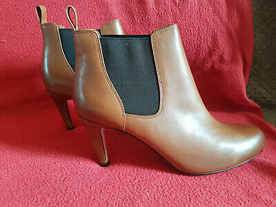£15 • Buy Clarks: Carlita Quinn, Soft Leather Ankle Boots: Tan, Uk 6
