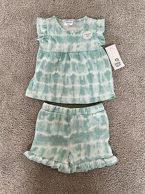£4 • Buy Fred And Flo Baby Girl Tie Dye Two Piece Set T Shirt And Shorts 3-6 Months