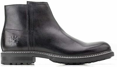 £24.98 • Buy Base London Mens Black Leather Boots Zip Ankle Shoes New RRP £80 UK Size 5 & 6