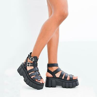 £22.99 • Buy Womens Chunky Sole Ladies Strappy Platform Ankle Strap Gladiator Sandals Size