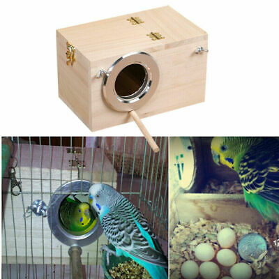 £8.99 • Buy Wooden Bird Breeding Box Cage For Parrot Budgie Nesting House Love Birds Finch