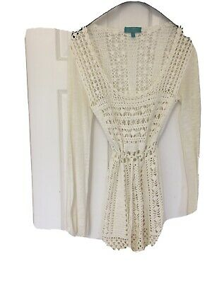 £12 • Buy Monsoon Crochet Dress Cream Label Says Size M But Is XS Or S