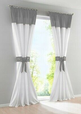 £19.99 • Buy PAIR READY MADE Net CURTAINS VOILE EYELET RING TOP Pencil Pleat Tape Top