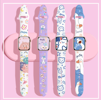 AU16.99 • Buy Fashion Silicone Soft Strap Watch Band For Apple Watch Series  SE 6 5 4 3 2 1