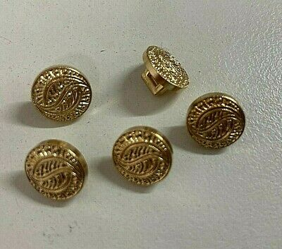 $2.77 • Buy Small Gold Shank Buttons 12 Mm X 6 Buttons