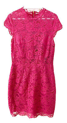 AU28 • Buy Forever New Pink Lace Dress Sz 10