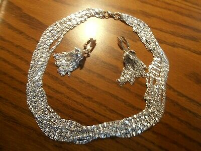 $15 • Buy Sarah Coventry Vintage Fashion   Silvery Cascade  18   Necklace/Earrings Set