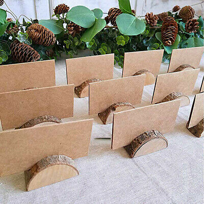 £13.39 • Buy Wooden Table Card Holder Stand Number Place Name Menu Party Wedding Lots