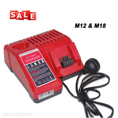 $ CDN37.53 • Buy M12-18C Charger For Milwaukee M12 M18 48-59-1812 Multi-Voltage Battery Replace