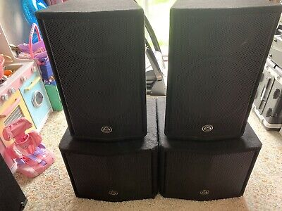 £600 • Buy Wharfedale Pro EVP 15 Speakers With Subs And Behringer EP4000 Amp