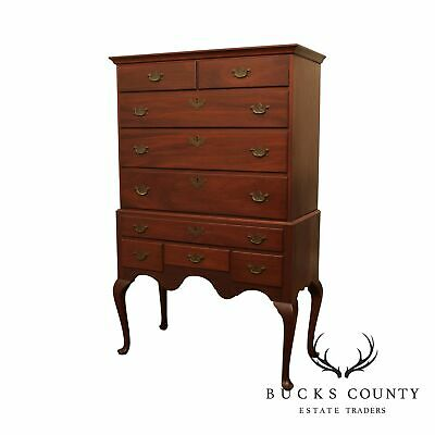 $1295 • Buy Bench Made Solid Mahogany Queen Anne Style Highboy Chest