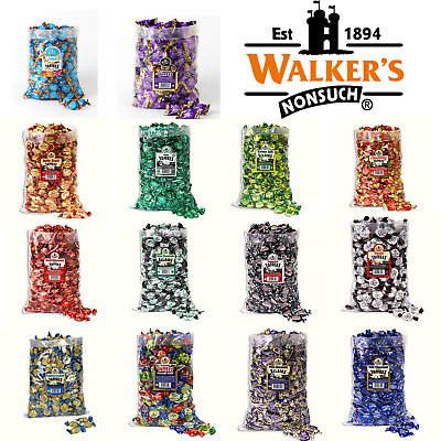 £16.99 • Buy Walkers Nonsuch Creamy English Toffees Full 2.5kg Bulk Bags Every Flavour