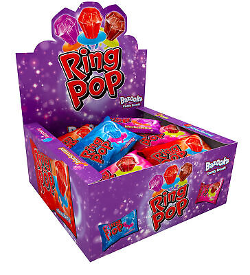 £10.99 • Buy Bazooka Ring Pops Candy Ring Kids Sweets Full Box Of 24