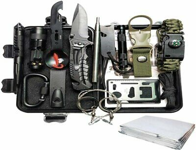 $25.95 • Buy Survival Gear Kit Outdoor Emergency Camping Tactical Tools 14 In 1 SOS EDC Case