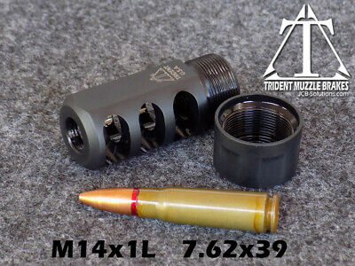 $69.95 • Buy 14x1 Left Hand 7.62x39mm Self Timing Muzzle Brake  Custom Made In The U.S.A.