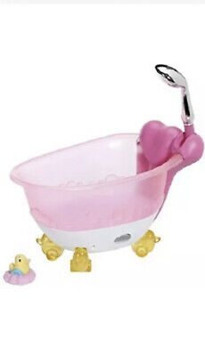£25 • Buy Baby Born Magical Foaming Bathtub With Rubber Duck. Zapf Dolls Bath And Shower