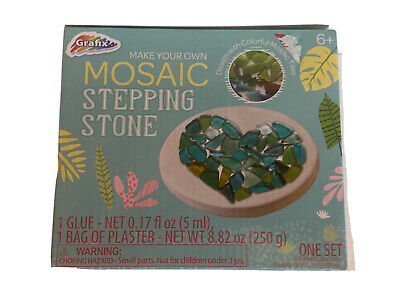 £3.67 • Buy Design With Multicolor Mosiac Tiles Stepping Stone Fun Arts And Crafts Mikestone