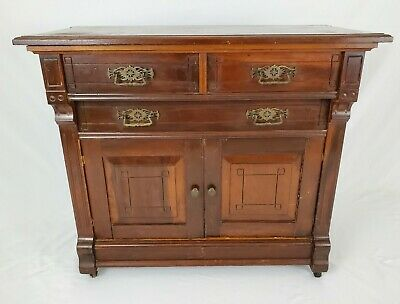 $325 • Buy Antique Mahogany Cabinet Commode Wash Stand Eastlake Victorian 1800's