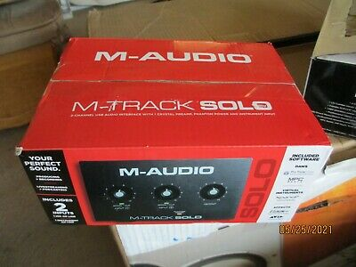 $75 • Buy M-Audio M-Track Solo 2-Channel USB Interface Streaming And Podcasting