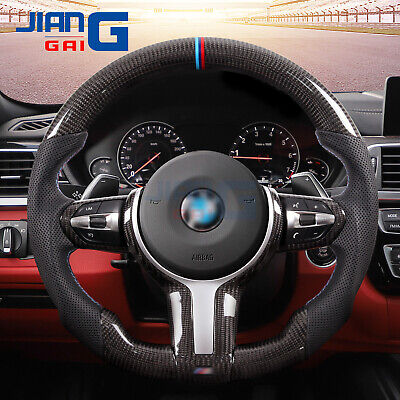 $599 • Buy SPORT Carbon Fiber Perforate Leather Steering Wheel For BMW M2 M3 M4