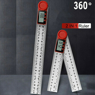 £13.49 • Buy 2 IN 1 LCD Digital Angle Ruler Finder 360° Protractor Measuring Tool 200mm/300mm