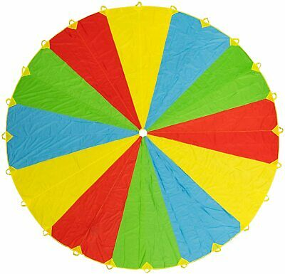£12.99 • Buy 6 - 20Ft Kids Play Rainbow Parachute Outdoor Game Exercise Summer Fun SportsToy