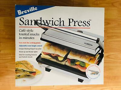 £60 • Buy Breville TR25 Cafe Style Sandwich Press & Grill Toaster Non Stick Plates - New