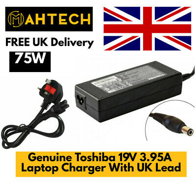 £15.99 • Buy Genuine Toshiba 75W 19V 3.95A PA3715E-1AC3 N17908 V85 Laptop Charger Adapter UK