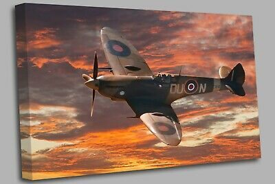 £17.99 • Buy Supermarine Spitfire Aircraft Clouds Canvas Wall Art Picture Print