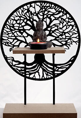 £16.99 • Buy Tree Of Life Standing Sculpture With Thai Buddha Tea Light Candle Holder