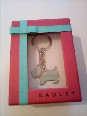 £14.99 • Buy Radley Blue And Silver Dog Keyring In Gift Box - New