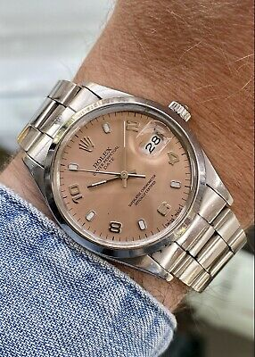 $ CDN5601.99 • Buy Rolex 15000 Oyster Perpetual Date Men Unisex Automatic Pink Dial Vintage Watch