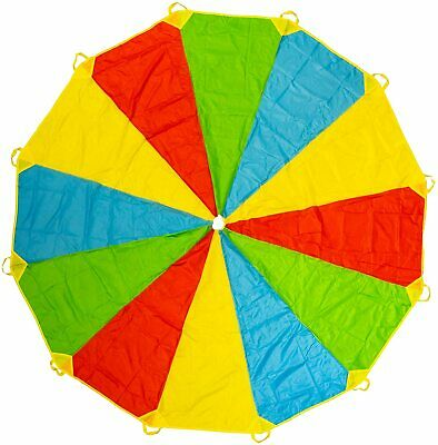 £19.99 • Buy 12Ft Kids Play Rainbow Parachute Outdoor Game Exercise Summer Beach Games Toy