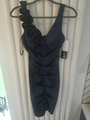 £20 • Buy Navy Ruffled Dress Excape From Tk Max