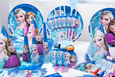 £3.99 • Buy Disney Frozen Elsa Anna Birthday Party Tableware, Decorations And Balloons Cups